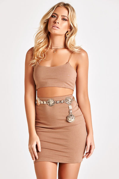 BRONTE TWO PIECE JERSEY SET IN MOCHA