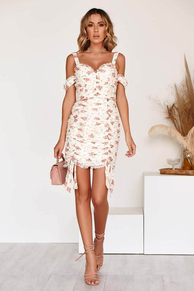 CARINA DRESS in WHITE PRINT