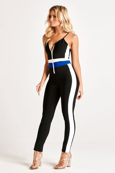 CYRA LUXE BANDAGE JUMPSUIT