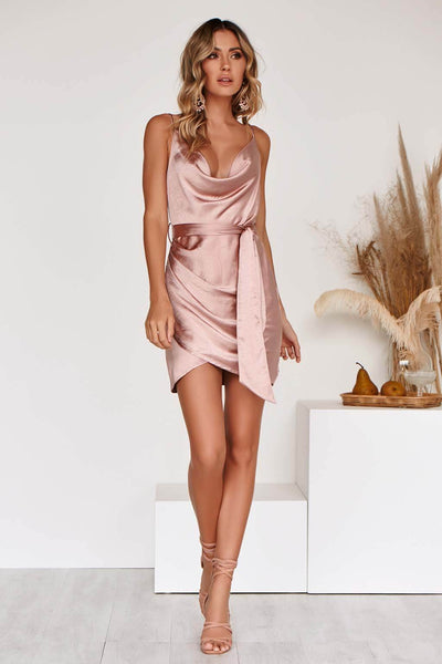 EVELYN DRESS IN ROSE