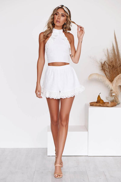 FIRST LOVE SHORTS in WHITE
