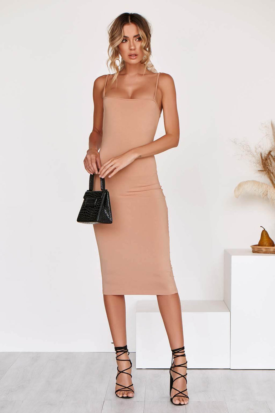 IVY MIDI Dress in NUDE