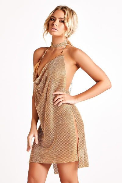 Kaya Luxe Prestige Jewel Dress in Gold