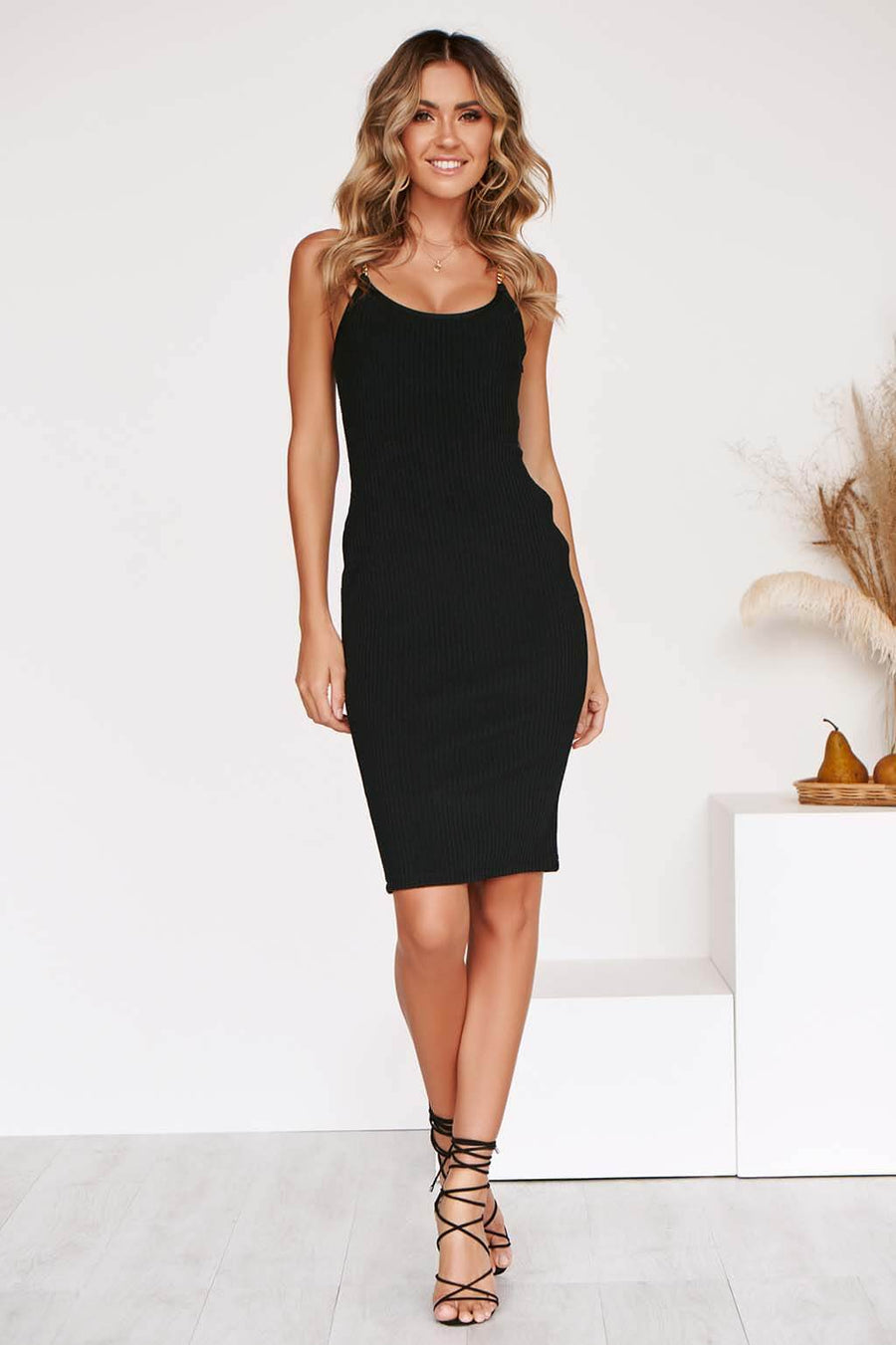 LATIKA LX BANDAGE DRESS IN BLACK