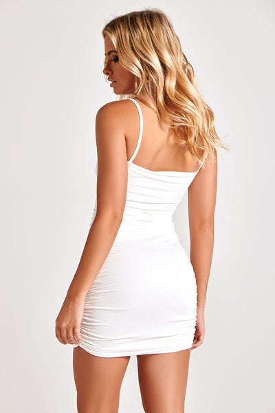 LIANA MINI DRESS IN WHITE