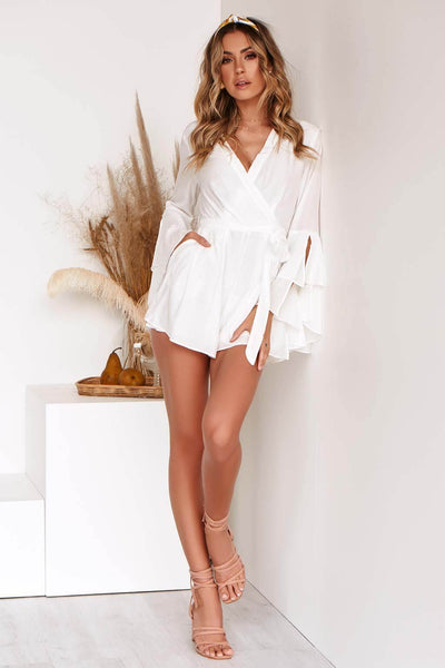 ROXY PLAYSUIT IN WHITE