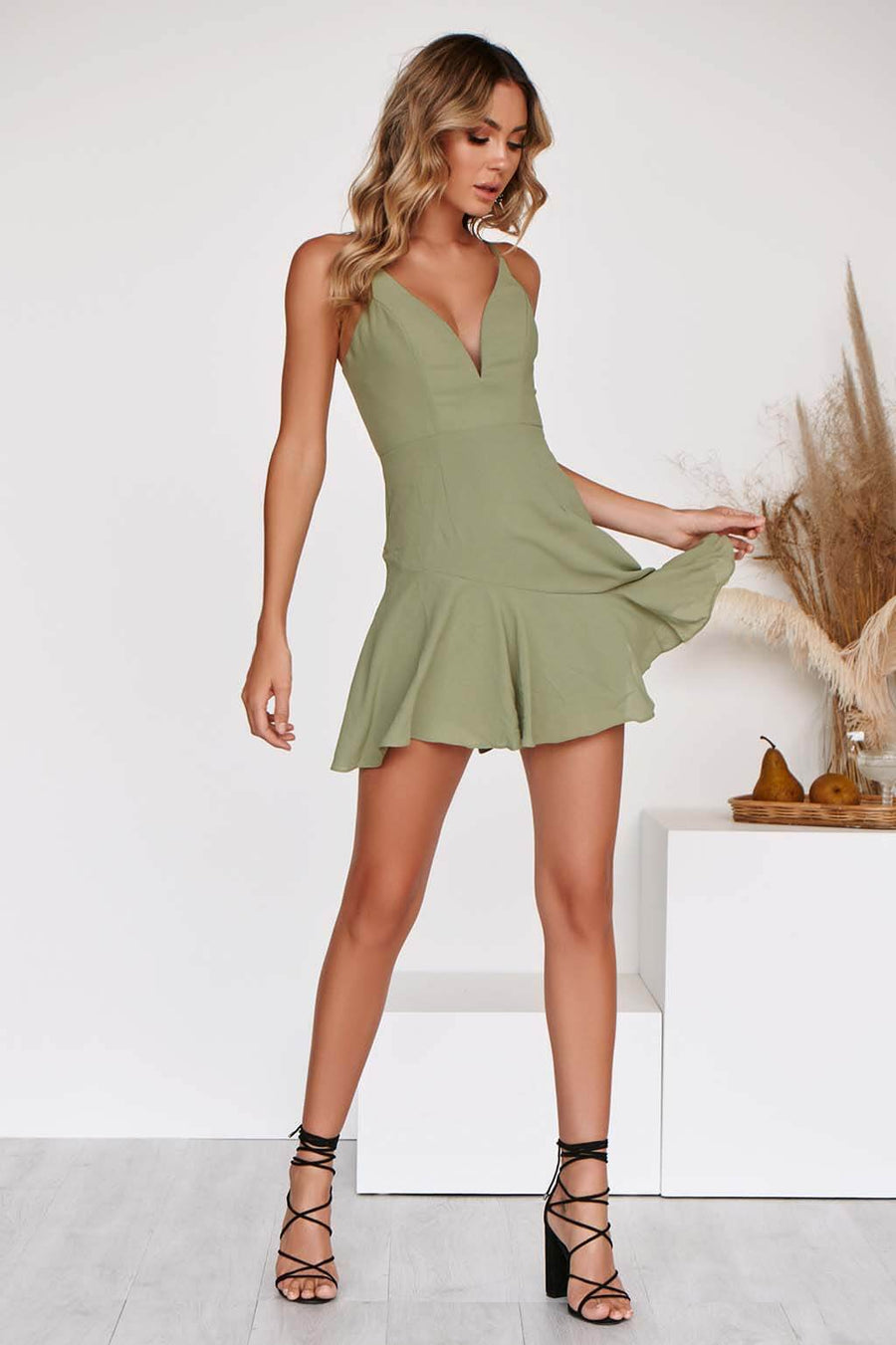 SAINT DRESS IN OLIVE