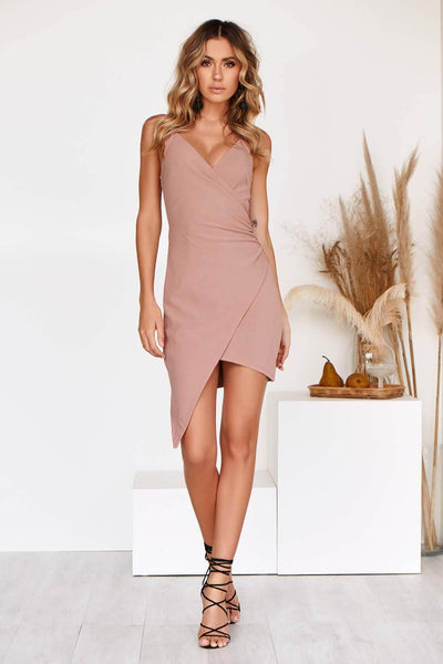 SHAREEN DRESS IN MAUVE