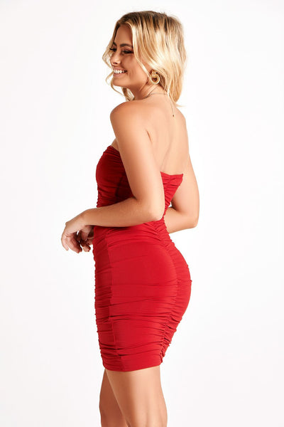STASSIE DRESS IN RED