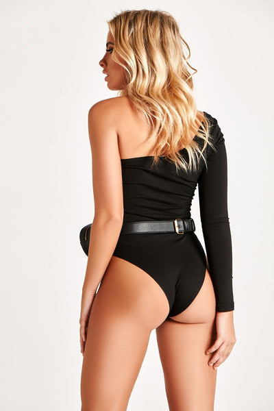YUZU BODYSUIT IN BLACK
