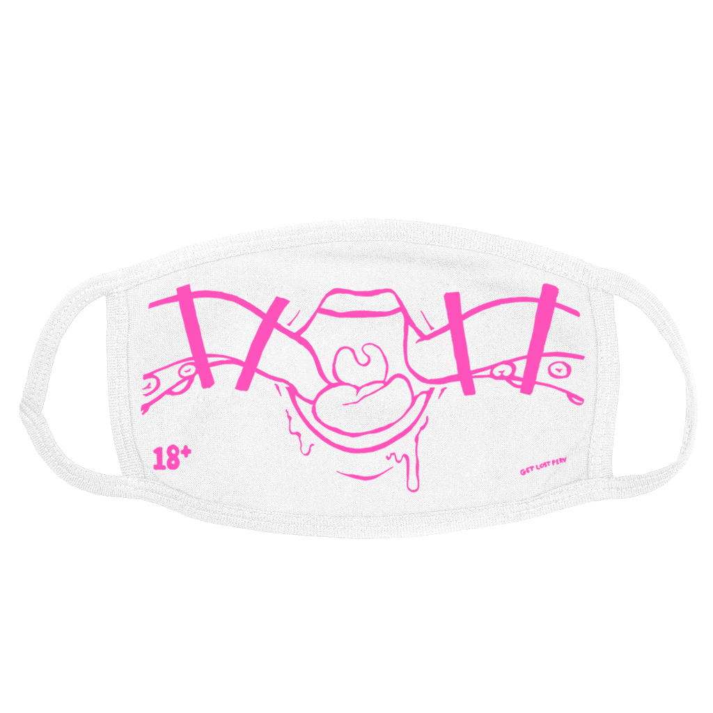 SHOKUSHU FACE MASK - WHITE & PINK