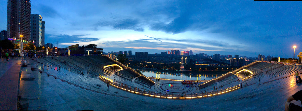 Luzhou, China at sunset