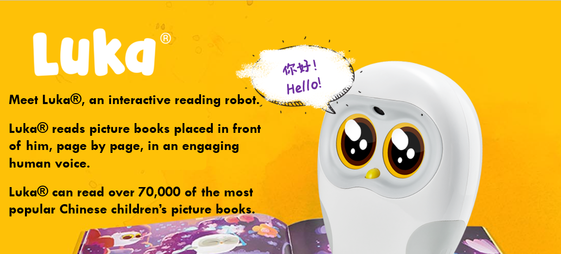 Luka book reading companion robot