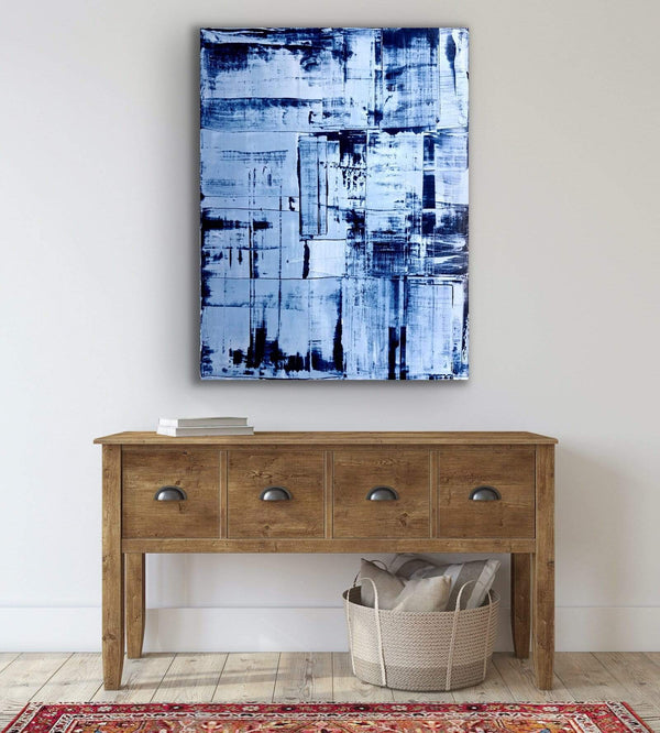 "Robert Tillberg Blue Blocks | 36""x48"""