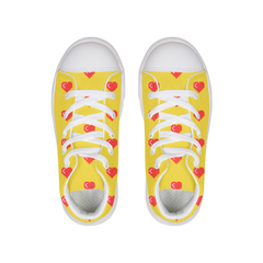 Red Hearts Kids Hightop Canvas Shoe - Complete Kid Shop