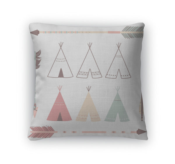 Throw Pillow, Teepee Tents And Arrows - Complete Kid Shop
