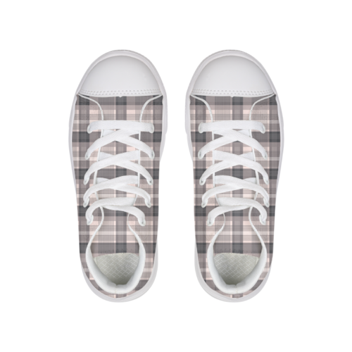 PINK PLAID Canvas Shoe - Complete Kid Shop