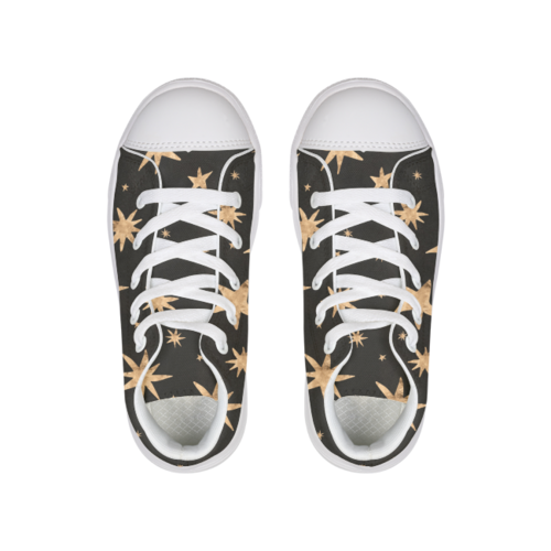 GOLD STARS Hightop Canvas Shoe - Complete Kid Shop