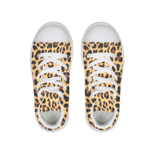 Leopard Pattern Hightop Canvas Shoe - Complete Kid Shop