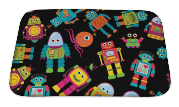Bath Mat, Cute Robots - Complete Kid Shop