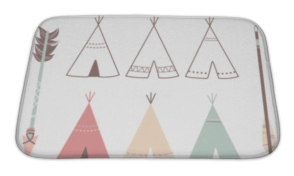 Bath Mat, Teepee Tents And Arrows - Complete Kid Shop