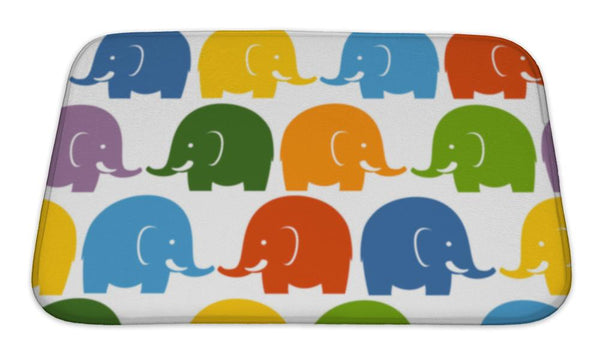 Bath Mat, Colorful Elephants - Complete Kid Shop