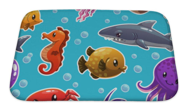 Bath Mat, Sea Animals - Complete Kid Shop