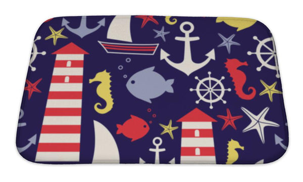 Bath Mat, Navy Sea - Complete Kid Shop