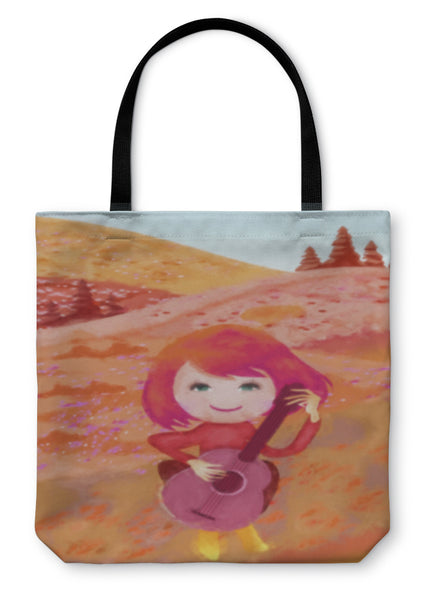 Tote Bag, Girl Playing Guitar - Complete Kid Shop