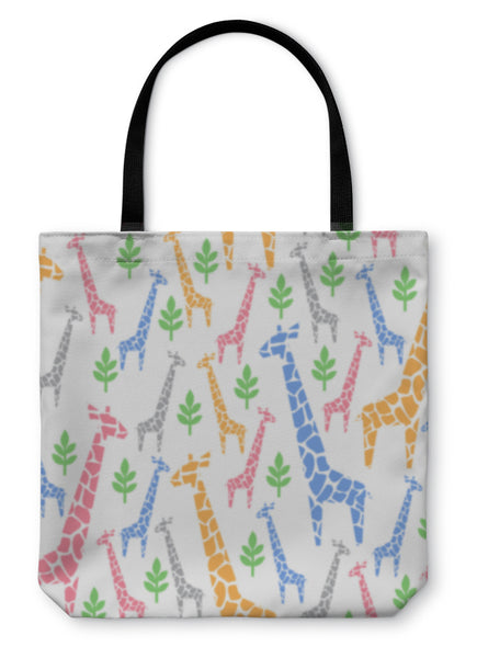 Tote Bag, Giraffes Pastel Illustration - Complete Kid Shop