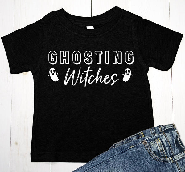 Ghosting Witches Halloween T-shirt - Complete Kid Shop