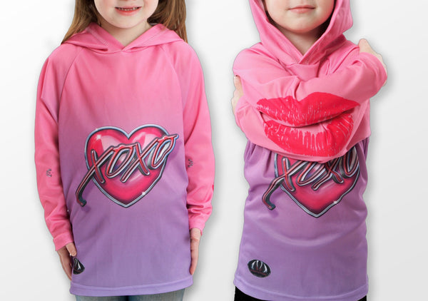 XOXO KISSY LIPS Hoodie Chomp Shirt by MOUTHMAN® - Complete Kid Shop