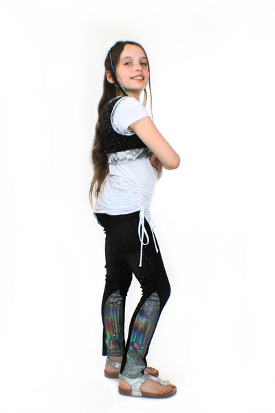 Ori's Glitter Velvet Stretch Pants - Complete Kid Shop