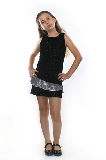 Luna, glitter velvet Dress - Complete Kid Shop