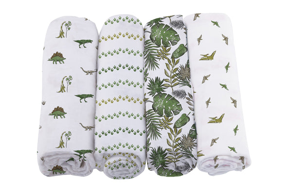 Dino Days Swaddle 4 Pack - Complete Kid Shop