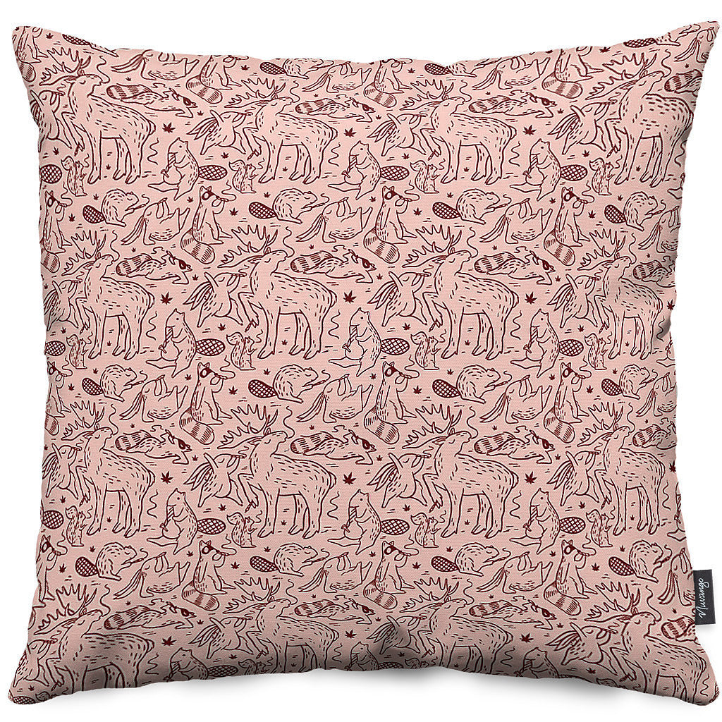 Fairland Pattern Throw Pillow