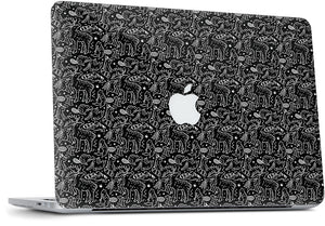 420 Friends Black MacBook Skin