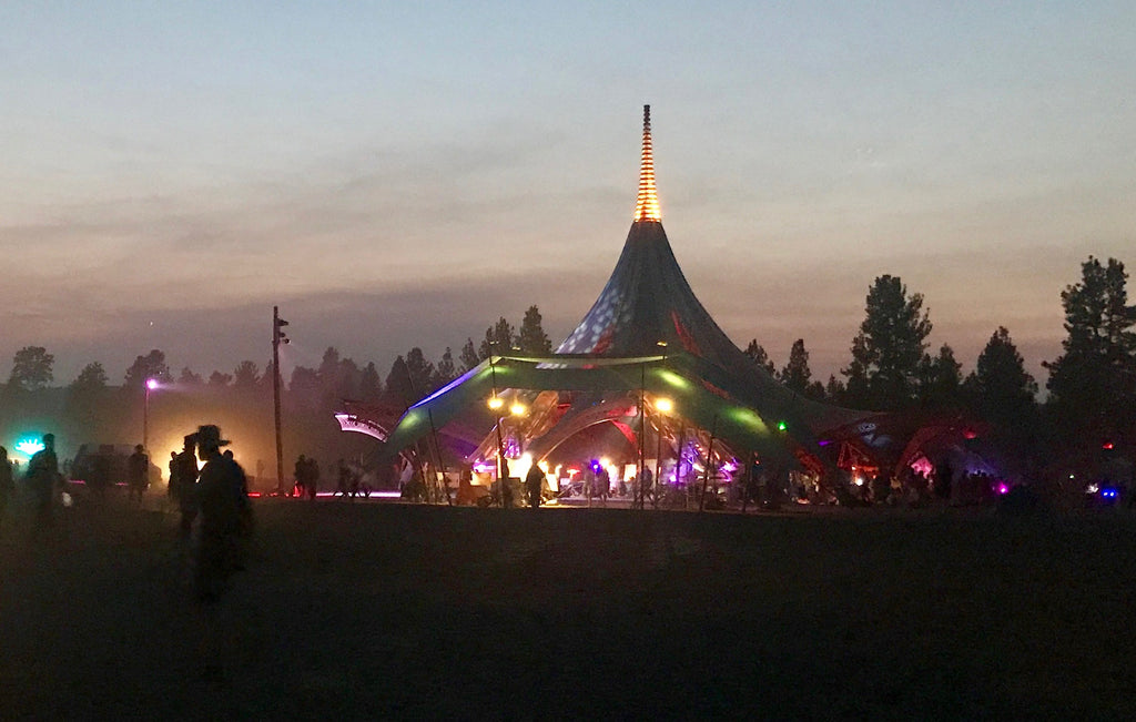 Earth Stage at night- Oregon Eclipse Festival