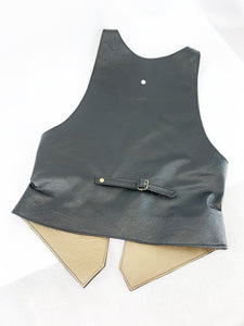 Leather Vest Profile Pocket S/M