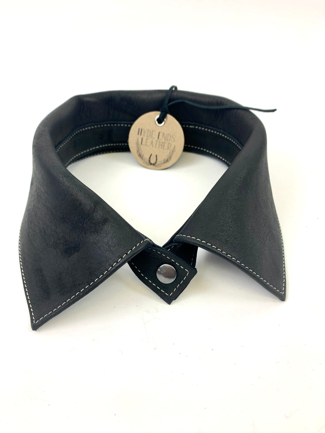 Reverse Leather Collar