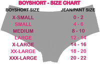 Blank Black Boyshorts - TRUE TO SIZE - As low as $3.25 per piece