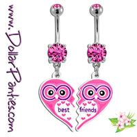 Best Friends OWLS Naval Jewelry belly rings - matching pair