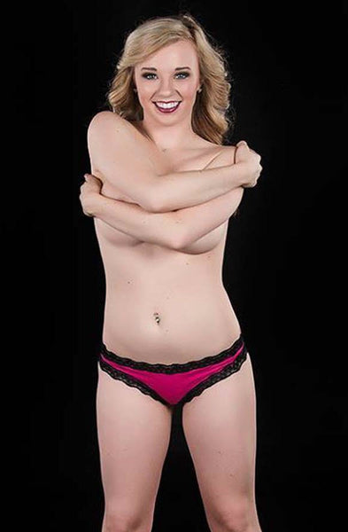 Hot Pink Black Lace Cheekini Panty