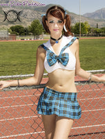Back to school and HOT for teacher schoolgirl costume