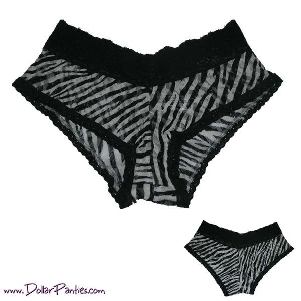 Zebra Print All Lace Hipster