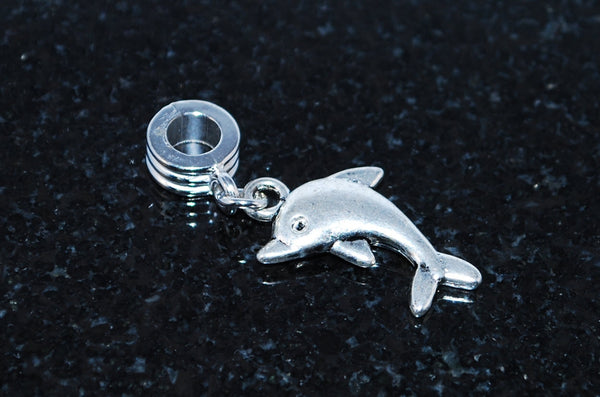 Beautiful Dolphin charm ready for snake type charm bracelet