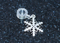 Snow flake charm ready for snake type bracelet