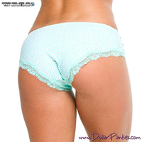 Soft Mint Green Polk A Dot Cheeky Panty