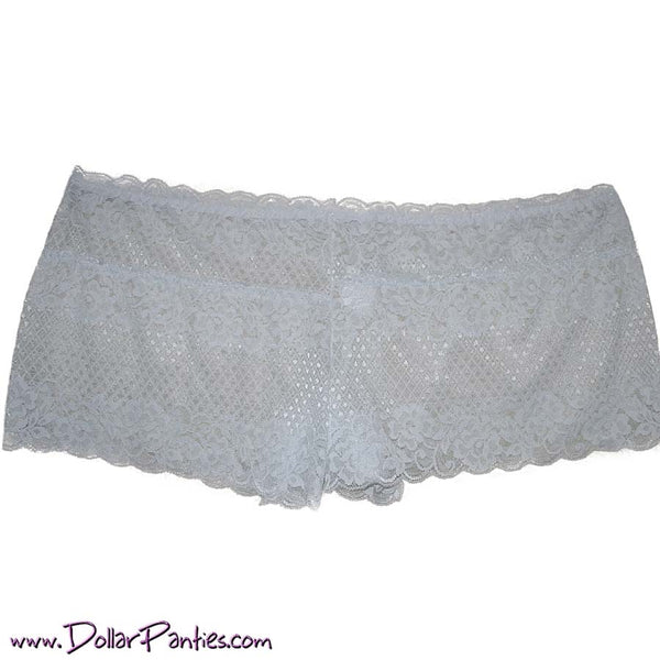 Soft Sexy White Lace Plus Size Boyshort
