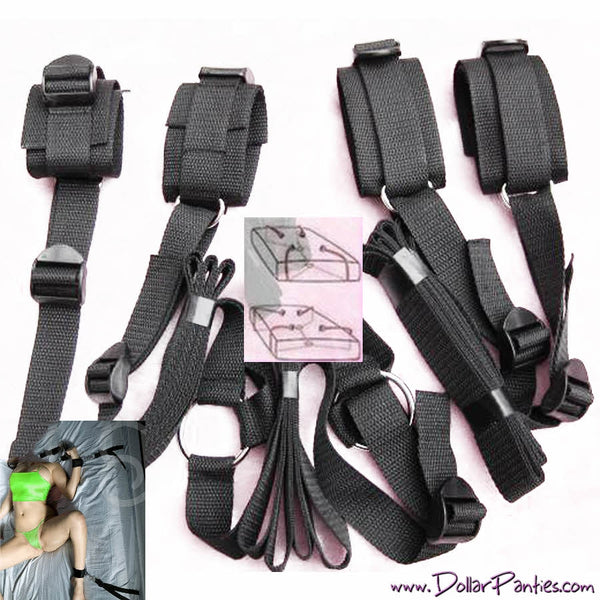 Under Bed restraint light bondage system cuffs